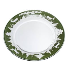 Black Forest German Set of Six Plates in Green Glass Sofina Boutique Kitzbuehel