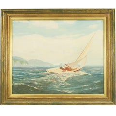 Yachting Oil Painting, a Good Breeze