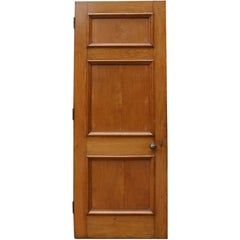 Set of Three 1920s Oak Internal Doors with Frames and Architrave