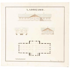 Swedish Original Architectural Drawing from 1911