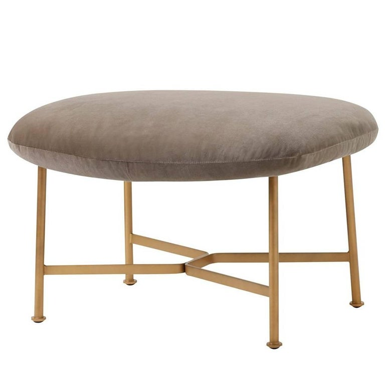Caristo Ottoman Upholstered in Fabric with Steel Frame