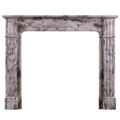 Green Serravezza Breccia Marble Fireplace
