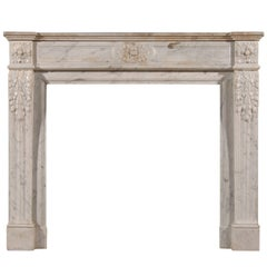 Louis XVI Carrara Marble Fireplace