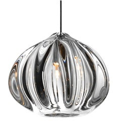 Clear Urchin Pendant Lighting, Handblown Glass by Siemon & Salazar