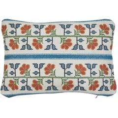 Vintage Eastern European Needlepoint Pillow