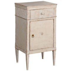 Swedish Gustavian Style Painted Nightstand Table with Reeded Motifs, circa 1880