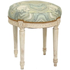 Round Louis XVI Painted Stool