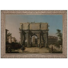 Arch of Constantine, after Grand Tour Oil Painting by Artist Canaletto