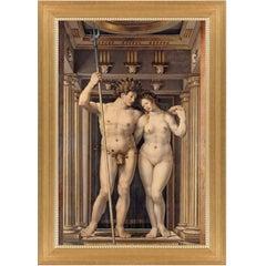 Neptune and Amphitrite, after Renaissance Revival Oil Painting by Jan Gossaert