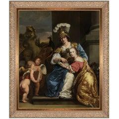 Margarita Trip as Minerva, after Oil Painting by Baroque artist Ferdinand Bol