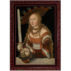 Judith with the Head of Holofernes, after Renaissance Oil Painting by Cranach