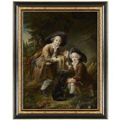 Two Savoyards, after Louis XIV Oil Painting by François-Hubert Drouais