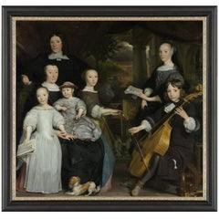 David Leeuw with Family, after Baroque Oil Painting by Abraham van den Tempel