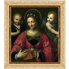 Saint Catherine with Angels, after Renaissance Oil Painting by Bernardino Luini