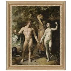 Fall of Man, after Baroque Revival Oil Painting by Cornelis Van Haarlem