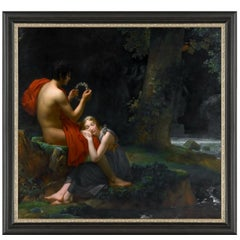 Daphnis and Chloe, after Oil Painting by Neoclassical Artist François Baron