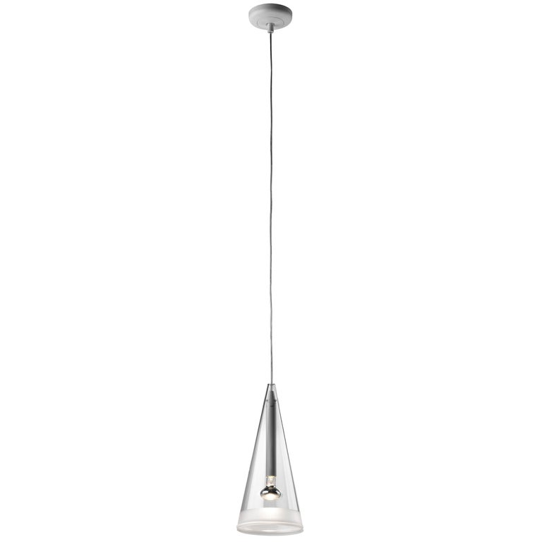 FLOS Fucsia 1 Pendant Light with White Cord by Achille Castiglioni