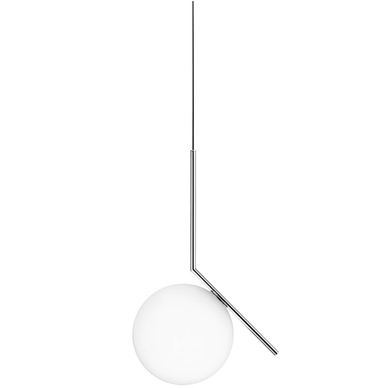 FLOS IC Lights S2 Pendant Light in Chrome by Michael Anastassiades