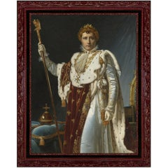 Napoleon in Coronation Robes, after Neoclassical Oil Painting by Pascal Gérard