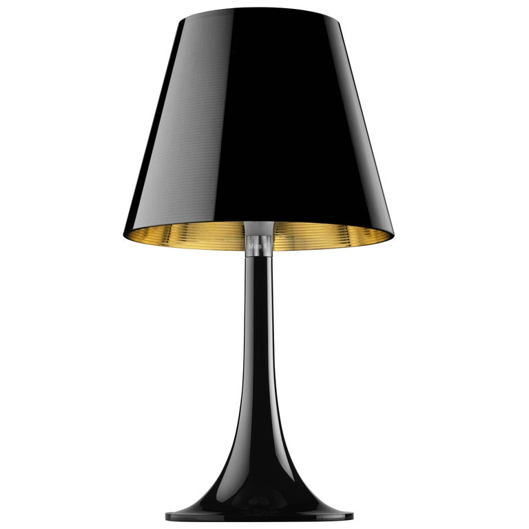 FLOS Miss K Table Lamp in Black by Philippe Starck