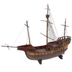 Modell einer alten Fracht-Karacke, wahrscheinlich aus Genua, Ende des 19. Jahrhunderts