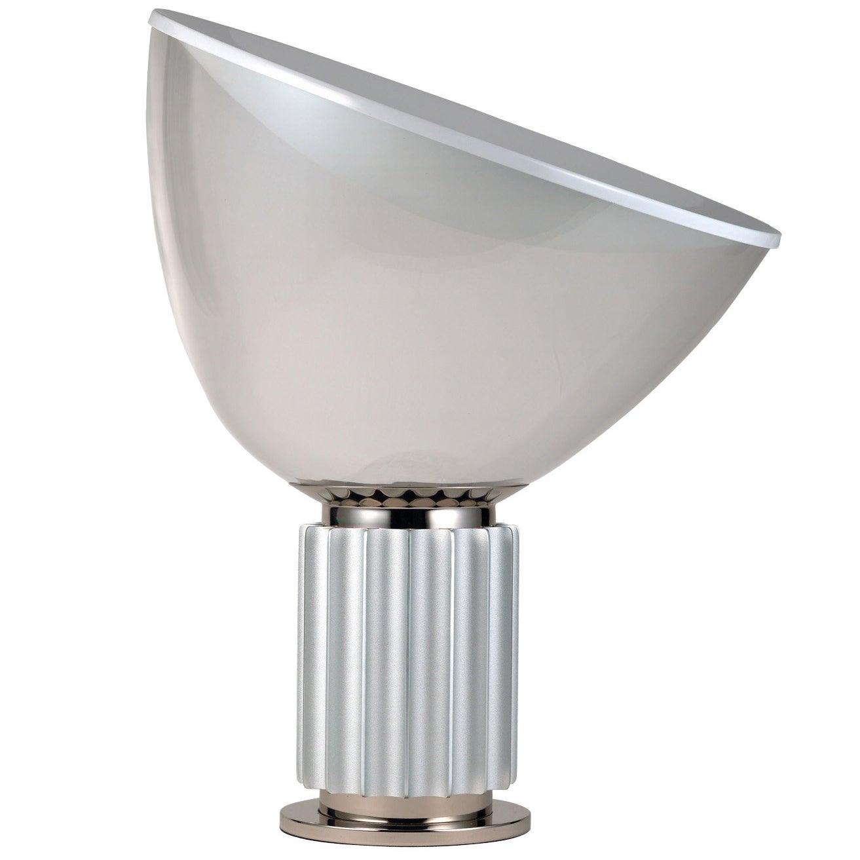 FLOS Taccia Led Diffuser Lamp in Silver by Achille & Pier Giacomo Castiglioni