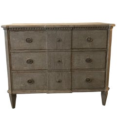 Gustavian Style Three-Drawer Painted Commode, Italy, Contemporary