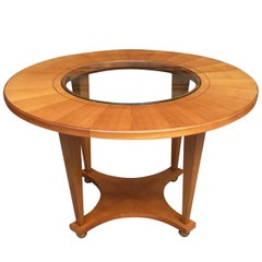 Maurice Rinck 1940s Coffee Table or Round Table