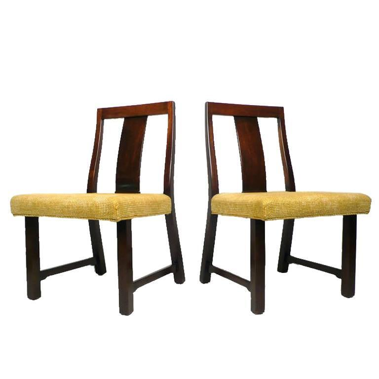 4 Dunbar Dining Chairs by Edward Wormley For Sale