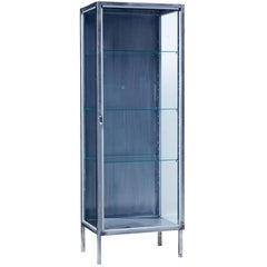 Mid-20th Century Polished Steel Medical Cabinet