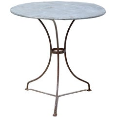 1920s Round Metal Bistro Table