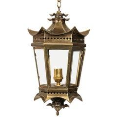 Italian Brass Pagoda Lantern