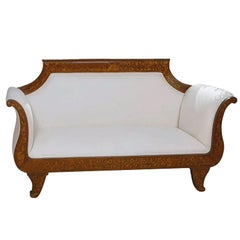 Dutch Marquetry Empire Settee, circa 1825
