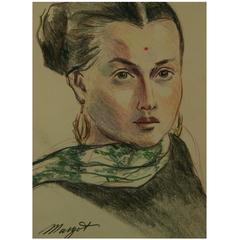 Pastel Portrait Painting
