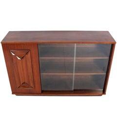 Midcentury Walnut Credenza or Display Cabinet