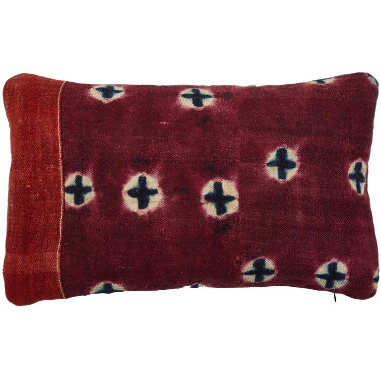 Antique Tibetan Yak Wool Pillow For Sale