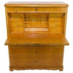 Birch Biedermeier Secretaire