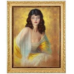 She, Who Must Be Obeyed, Hollywood Regency Painting, after Rolf Armstrong