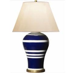 Ralph Lauren Glazed Porcelain Blue White Classic Style Table Lamp