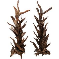 Pair of Driftwood Sculptures
