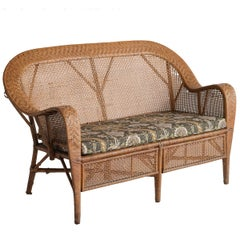 Wicker Settee by Kay Fisker, circa 1950