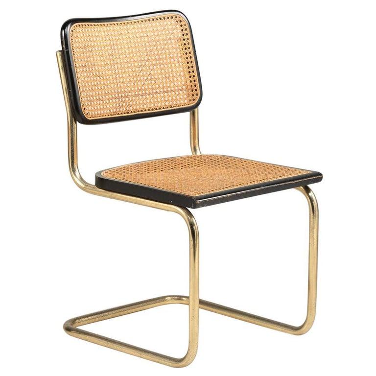 Rare Gilt Metal Cantilever Chairs by Marcel Breuer, circa 1928
