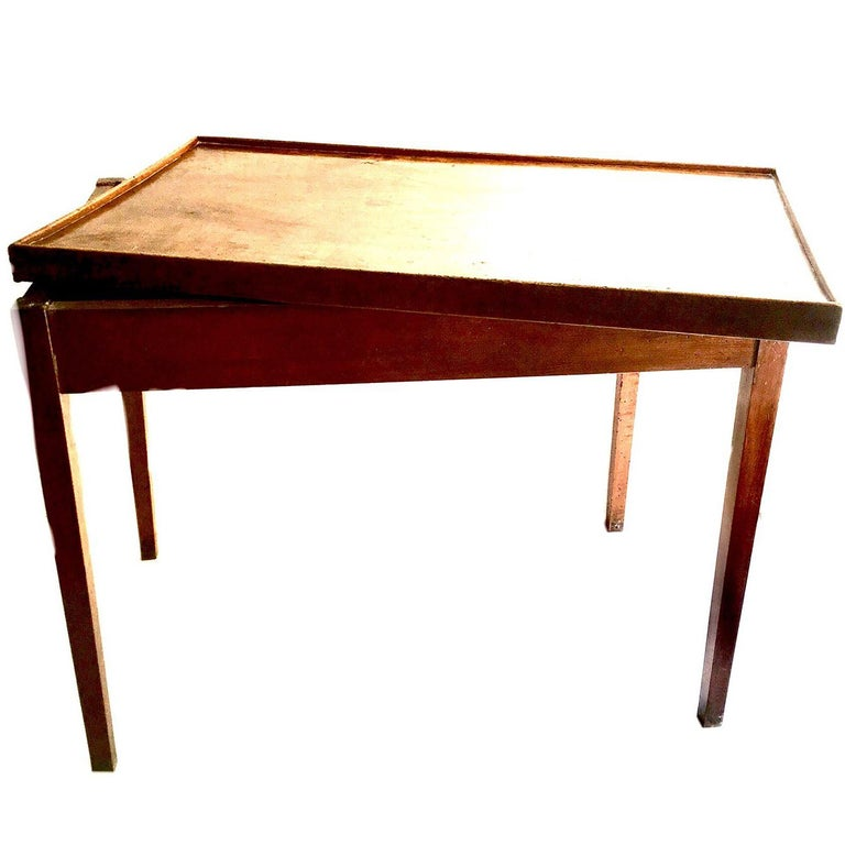 French Directoire Game Table with Reversible Top For Sale