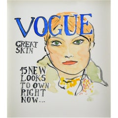 Vogue #4, Watercolor on Archival Paper, 2016
