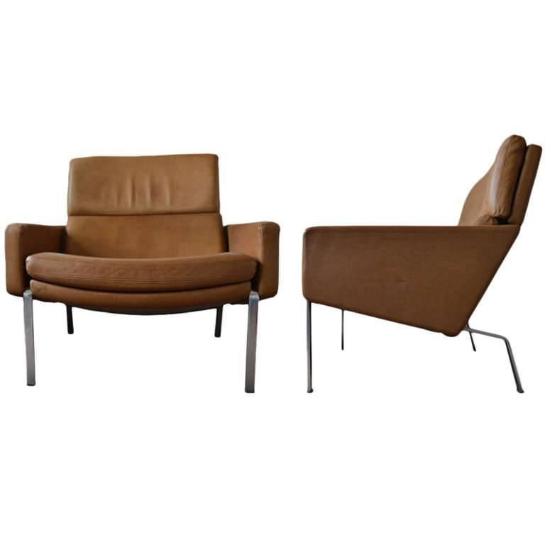 Preben Fabricius F890 Pair Of Leather Armchairs At 1stdibs