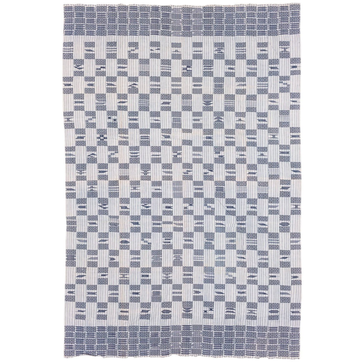 Vintage Cotton Man's Blanket Wrap from West Africa