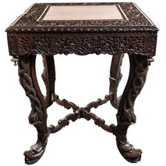 Intricate, 19th Century Burmese or Myanmar Occasional Table