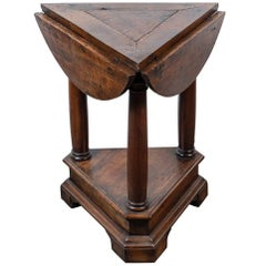 18th Century Drop-Leaf, Triangle Side Table