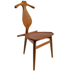 "Original and Rare Hans Wegner ""Valet"" Chair for Johannes Hansen, Denmark, 1953"