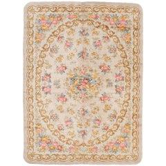 Antique Ivory Spanish Savonnerie Rug